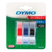 Лента Dymo S0847750/146079, 9 мм, красная, черная, синяя (3 шт)