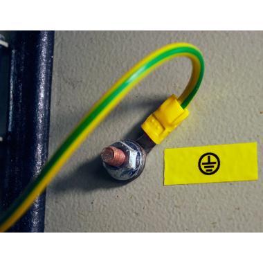 Лента TZe-S641 совместимая, 18 мм, черный на желтом