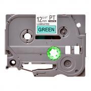 Лента TZe-731 совместимая, 12 мм, черный на зеленом