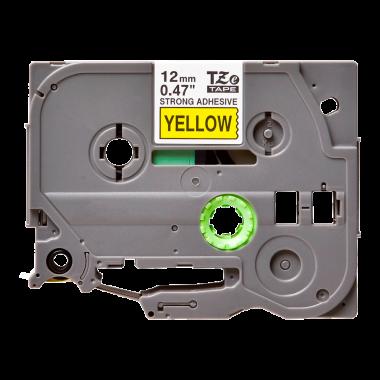 Лента TZe-S631 совместимая, 12 мм, черный на желтом