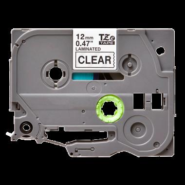 Лента TZe-131 совместимая, 12 мм, черный на прозрачном