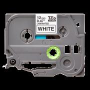 Лента TZe-231 совместимая, 12 мм, черный на белом