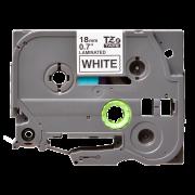 Лента TZe-241 совместимая, 18 мм, черный на белом