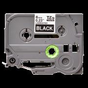 Лента TZe-315 совместимая, 6 мм, белый на черном