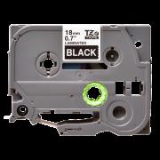 Лента TZe-345 совместимая, 18 мм, белый на черном