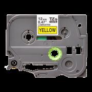 Лента TZe-631 совместимая, 12 мм, черный на желтом