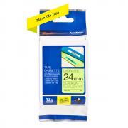 Картридж Brother TZe-C51, 24 мм, черный на флуоресцентном желтом [TZeC51]