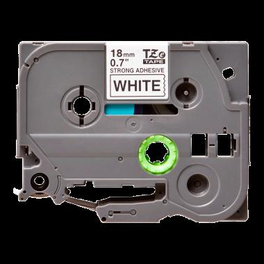 Лента TZe-S241 совместимая, 18 мм, черный на белом
