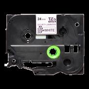 Лента TZe-SE5 совместимая, 24 мм, черный на белом