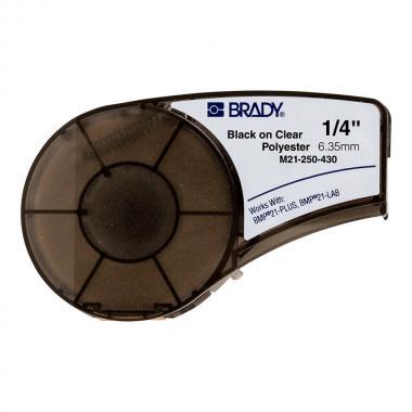 Картридж Brady M21-250-430, 6.35 мм, черный на прозрачном [brd139755]