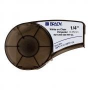 Картридж Brady M21-250-430-WT-CL, 6.35 мм, белый на прозрачном [brd139746]