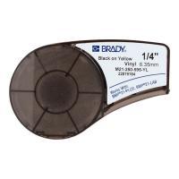 Картридж Brady M21-250-595-YL, 6.35 мм, черный на желтом [brd139745]