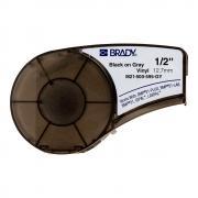 Картридж Brady M21-500-595-GY, 12.7 мм, черный на сером [brd139739]