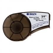 Картридж Brady M21-750-430, 19.05 мм, черная на прозрачном [brd110901]