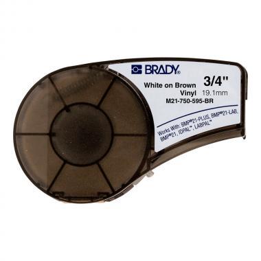 Картридж Brady M21-750-595-BR, 19.05 мм, белый на коричневом [brd139737]