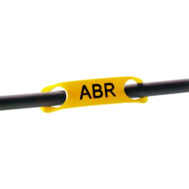 Кабельные бирки Rapido Brady BM71R-2-7599-YL полиэтилен 23 х 5.2 мм, желтые (2500 шт) [brd622203]