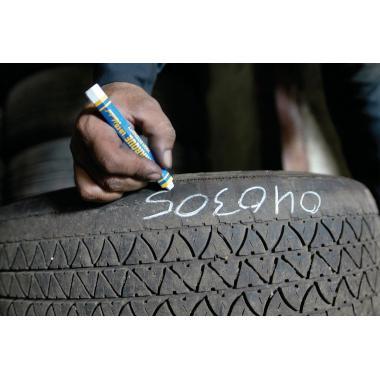 Маркер для шин и резины Markal Tyre Marque, желтый, 12.7 мм [51421]