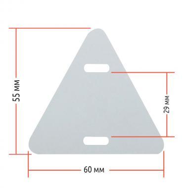 Комплект 2 в 1 №3 для контрольного кабеля: треугольная бирка 60 х 60 мм (1000 шт) в рулоне и риббон 75 м