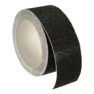 Крупнозернистая противоскользящая формуемая лента, черная, 100 мм х 18.3 м
