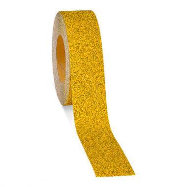 Крупнозернистая противоскользящая лента, желтая, 100 мм х 18.3 м