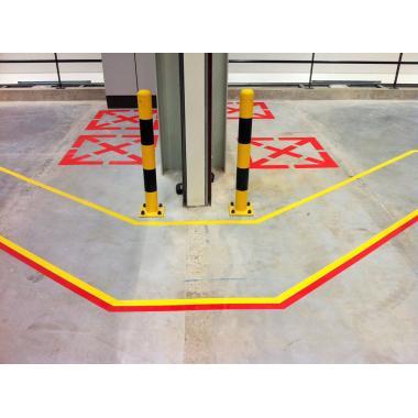 Клейкая лента ПВХ для разметки пола, красная, 100 мм х 33 м