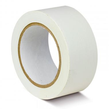 Клейкая лента ПВХ для разметки пола, белая, 50 мм х 33 м