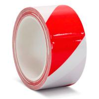 Клейкая лента ПВХ для разметки пола, красно-белая, 100 мм х 33 м