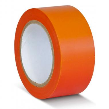 Клейкая лента ПВХ для разметки пола, оранжевая, 100 мм х 33 м