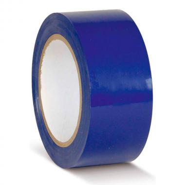Клейкая лента ПВХ для разметки пола, синяя, 75 мм х 33 м
