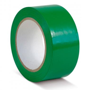 Клейкая лента ПВХ для разметки пола, зеленая, 75 мм х 33 м