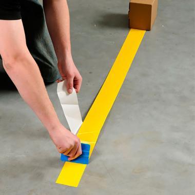 Клейкая лента ПВХ для разметки пола, желтая, 100 мм x 33 м