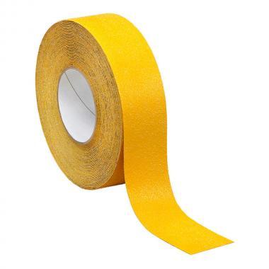 Противоскользящая лента самоклеющаяся, желтая, 75 мм х 18.3 м