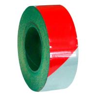 Светоотражающая самоклеящаяся лента красно-белая, 50 мм х 45.7 м