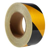 Светоотражающая самоклеящаяся лента желто-черная, 50 мм х 45.7 м