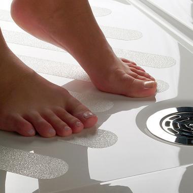 Виниловая противоскользящая лента для ванной и душа, белая, 25 мм х 18.3 м