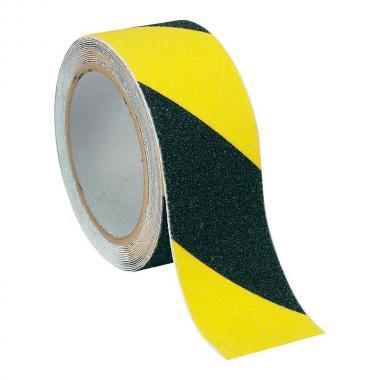 Виниловая противоскользящая лента для ванной и душа, желто-черная, 25 х 18.3 мм