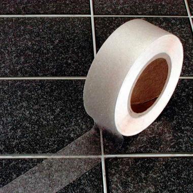 Виниловая противоскользящая лента для ванной и душа, прозрачная, 100 мм х 18.3 м