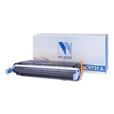 Картридж NVP совместимый NV-C9731A для HP, голубой (БЕЗ ГАРАНТИИ) [NV-C9731AC]