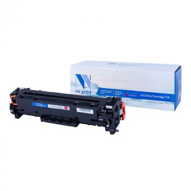 Картридж NVP совместимый NV-CC533A/NV-718 для HP и Canon, пурпурный [NV-CC533A/718M]