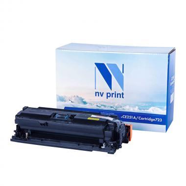 Картридж NVP совместимый NV-CE251A/NV-723 для HP и Canon, голубой [NV-CE251A/723C]