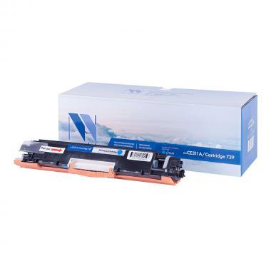 Картридж NVP совместимый NV-CE311A/NV-729 для HP и Canon, голубой [NV-CE311A/729C]
