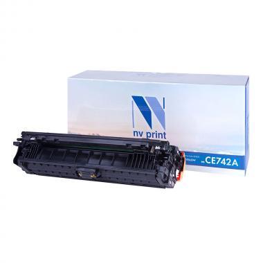Картридж NVP совместимый NV-CE742A для HP, желтый [NV-CE742AY]