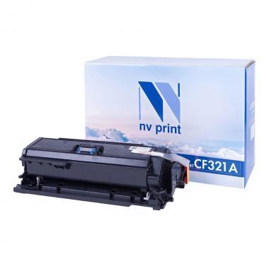 Картридж NVP совместимый NV-CF321A для HP, голубой [NV-CF321AC]