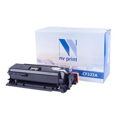 Картридж NVP совместимый NV-CF332A для HP, желтый [NV-CF332AY]