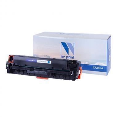 Картридж NVP совместимый NV-CF381A для HP, голубой [NV-CF381AC]