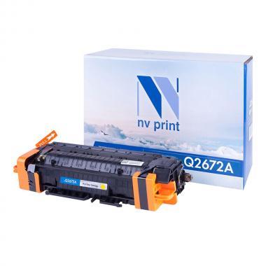 Картридж NVP совместимый NV-Q2672A для HP, желтый [NV-Q2672AY]