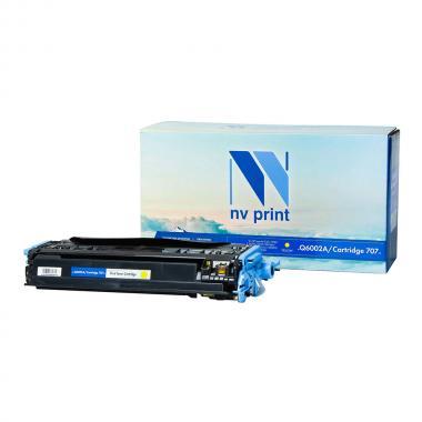 Картридж NVP совместимый Premium NV-Q6002A/NV-707PR для HP и Canon, желтый [NV-Q6002A/707PRY]