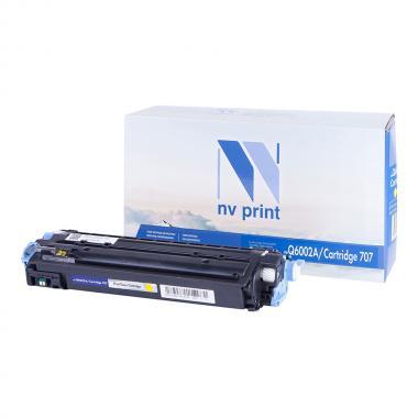 Картридж NVP совместимый NV-Q6002A/NV-707 для HP и Canon, желтый [NV-Q6002A/707Y]
