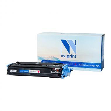 Картридж NVP совместимый Premium NV-Q6003A/NV-707PR для HP и Canon, пурпурный [NV-Q6003A/707PRM]