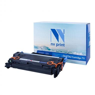 Картридж NVP совместимый NV-Q6473A/NV-711 для HP и Canon, пурпурный [NV-Q6473A/711M]